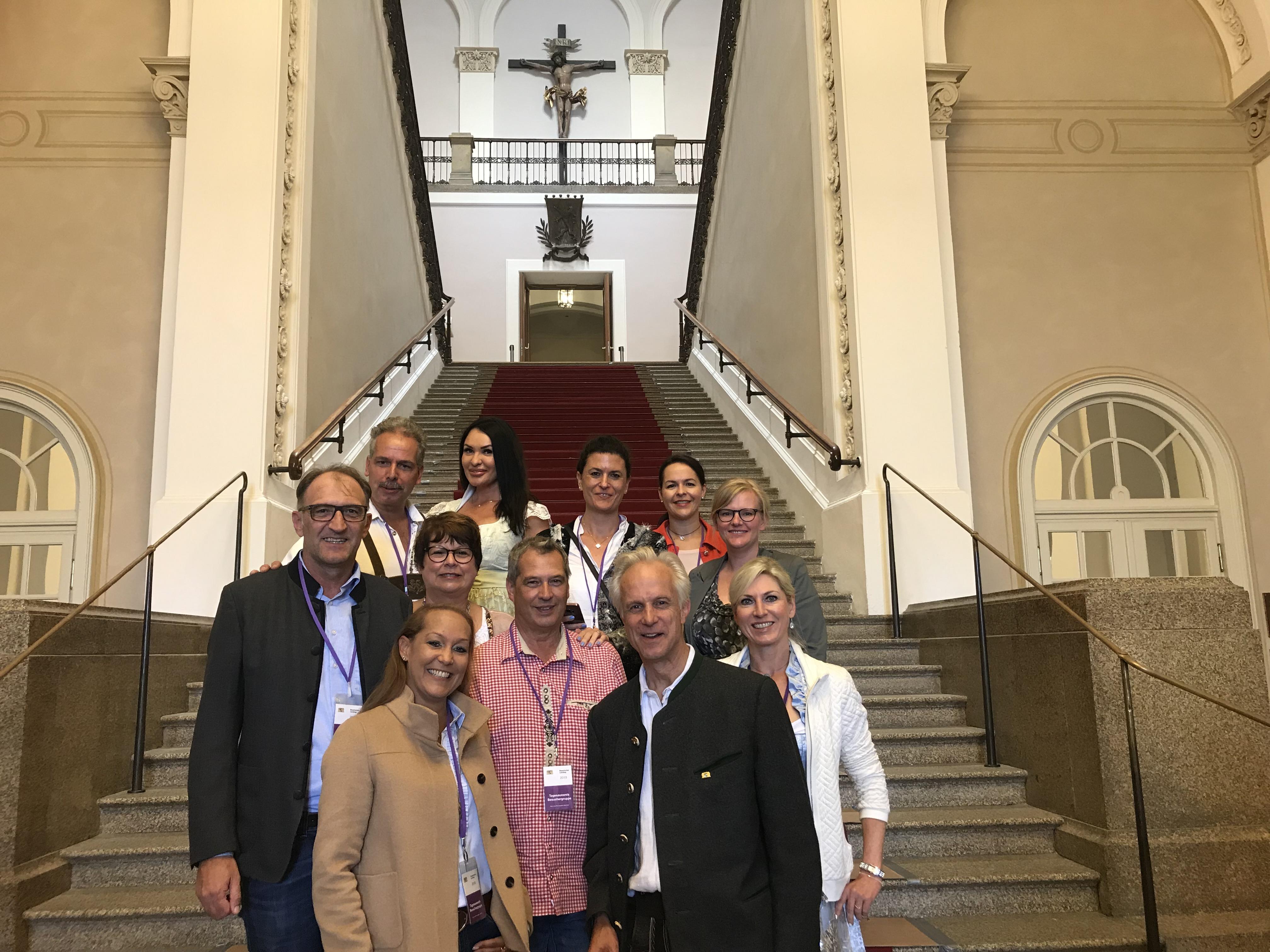 Junioren im Bayrischen Landtag